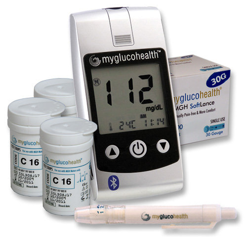 MyGlucoHealth Blood Glucose Starter Kit with Bluetooth Technology