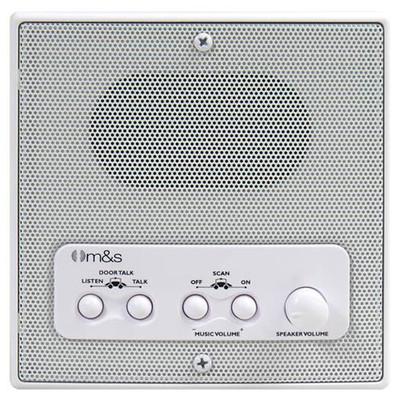 M&S Systems DMC Intercom Patio Station, Remote Scan, Master Volume, 4-Wire Retrofit, White