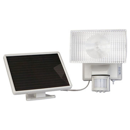 Maxsa Solar-Powered Motion-Activated 80 LED Floodlight, White
