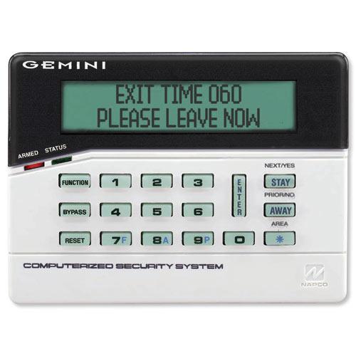 Napco gemini gemk1ca custom alphanumeric keypad for Gemini garage door motor manual