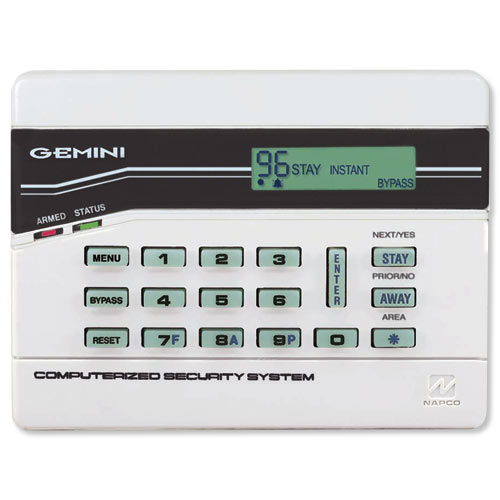 Napco Gemini LCD Keypad with Built-In RF Receiver