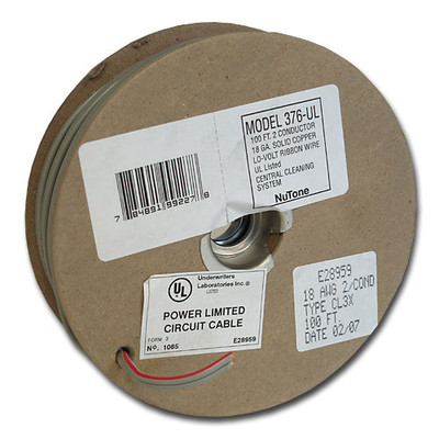 NuTone Central Vacuum 18/2 Low-Voltage Wire, 100 Ft.