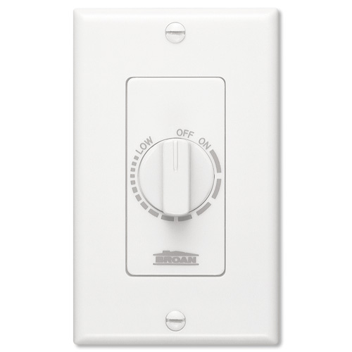 Broan/NuTone Electronic Variable-Speed Fan Controller, White