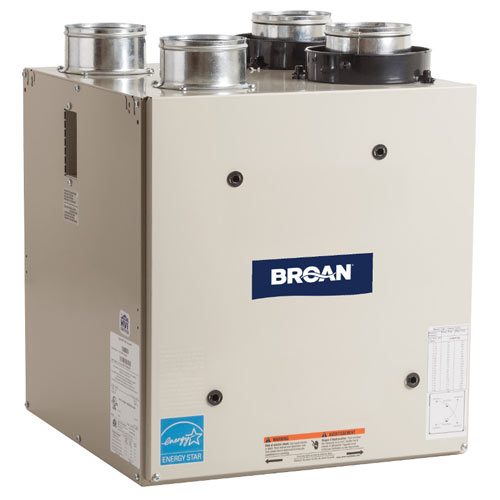 Broan Heat Recovery Ventilator with Top Ports