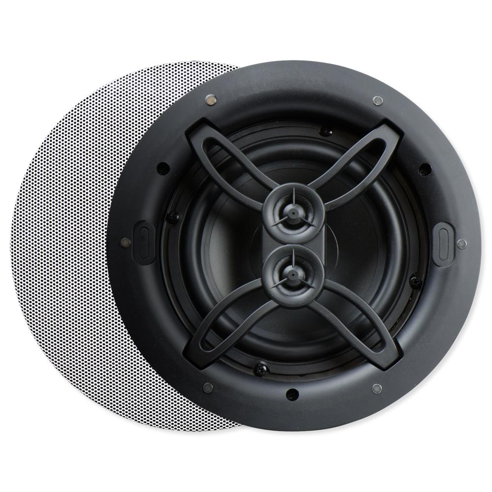 Dual Voice Coil Ceiling Speaker: Nuvo Series Two 6.5 In. In-Ceiling Dual Voice Coil Speaker
