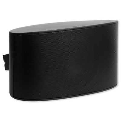 """Nuvo Series Six 6.5"""" Dual Voice Coil Outdoor Speaker, Black"""