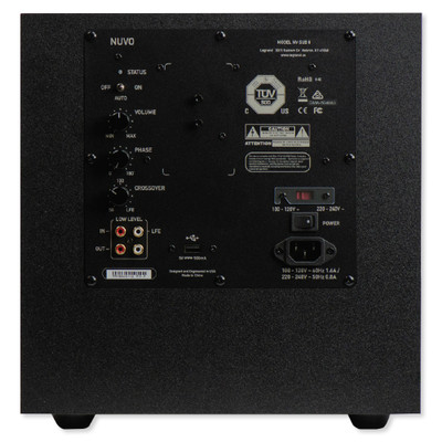 Nuvo 8 In. Powered Subwoofer, 100W