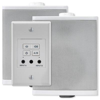 Nuvo Decora Style Wall Amplifier with Speakers, 40 Watt