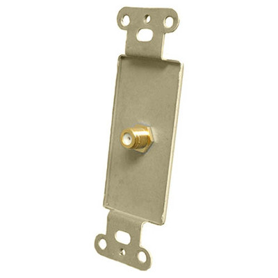 OEM Systems Pro-Wire Jack Plate (1 F), Ivory