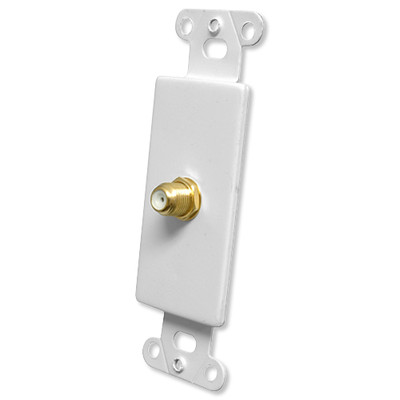 OEM Systems Pro-Wire Jack Plate (1 F), White