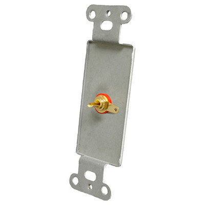 OEM Systems Pro-Wire Jack Plate (1 RCA), White