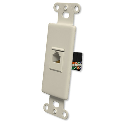 OEM Systems Pro-Wire Jack Plate (1 RJ45), Almond