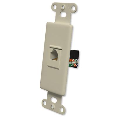 OEM Systems Pro-Wire Jack Plate (1 RJ45), Ivory