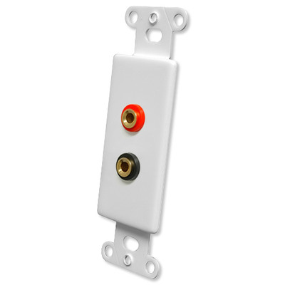 OEM Systems Pro-Wire Jack Plate (2 Banana Jacks), White