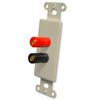 OEM Systems Pro-Wire Jack Plate (2 Binding Posts), Ivory