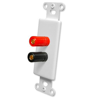 OEM Systems Pro-Wire Jack Plate (2 Binding Posts), White
