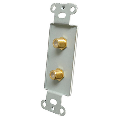 OEM Systems Pro-Wire Jack Plate (2 F), White