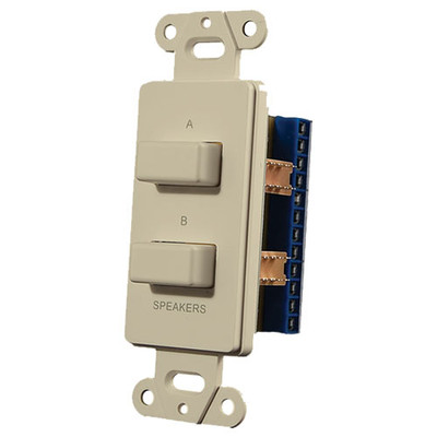 OEM Systems Pro-Wire Speaker Switch Plate (A or B, or A + B), Almond
