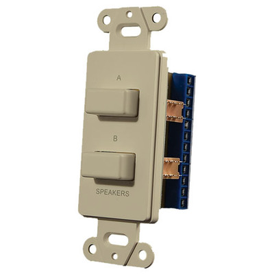 OEM Systems Pro-Wire Speaker Switch Plate (A or B, or A + B), Ivory