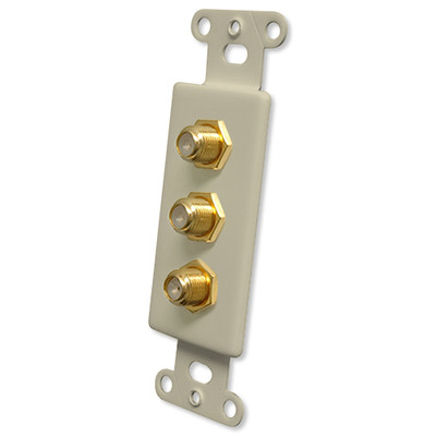 OEM Systems Pro-Wire Jack Plate (3 F), Ivory
