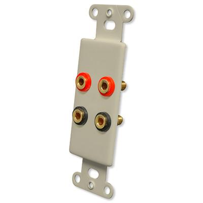 OEM Systems Pro-Wire Jack Plate (4 Banana Jacks), Ivory