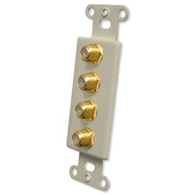 OEM Systems Pro-Wire Jack Plate (4 F), Ivory