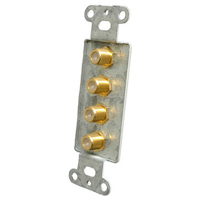 OEM Systems Pro-Wire Jack Plate (4 F), White
