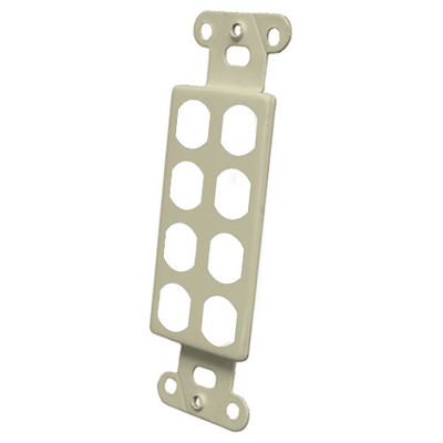 OEM Systems Pro-Wire Blank Modular Connector Plate, 8-Port, Ivory