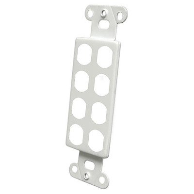 OEM Systems Pro-Wire Blank Modular Connector Plate, 8-Port, White