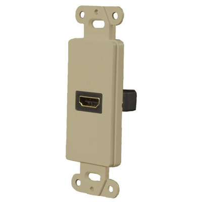 OEM Systems Pro-Wire Jack Plate (1 HDMI), Ivory
