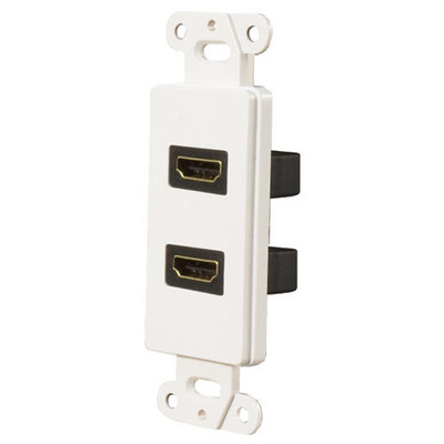 OEM Systems Pro-Wire Jack Plate (2 HDMI), White