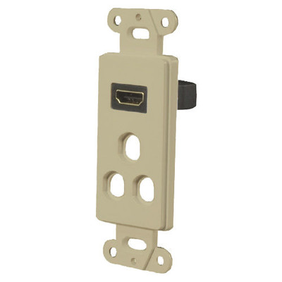 OEM Systems Pro-Wire Combo Jack Plate (1 HDMI with 3 Modular Ports), Ivory