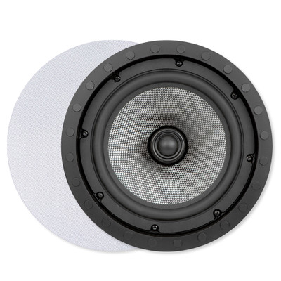 Presence Elite 8 In. In-Ceiling/Wall Frameless Speaker, 2-Way (Pair)