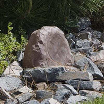 OEM Systems 6 In. Sound Terrain Outdoor Rock Speaker, Brown