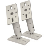 OEM Systems Rustproof Double Swivel-Ball Brackets, White