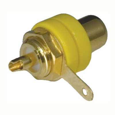 OEM Systems Pro-Wire RCA to Solder Modular Connector, Yellow