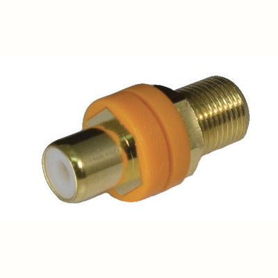 OEM Systems Pro-Wire RCA to F Modular Connector, Orange