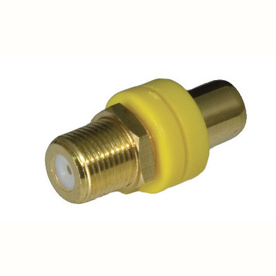 OEM Systems Pro-Wire RCA to F Modular Connector, Yellow