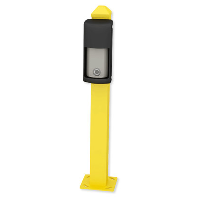 Optex 21 In. Mini Post for Curb Mounting OVS Series, Yellow