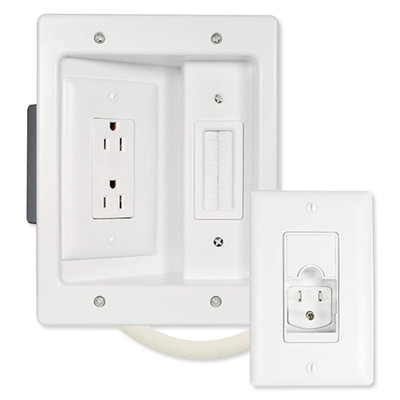 On-Q/Legrand In-Wall TV Power and Cable Management Kit, Pre-Wired