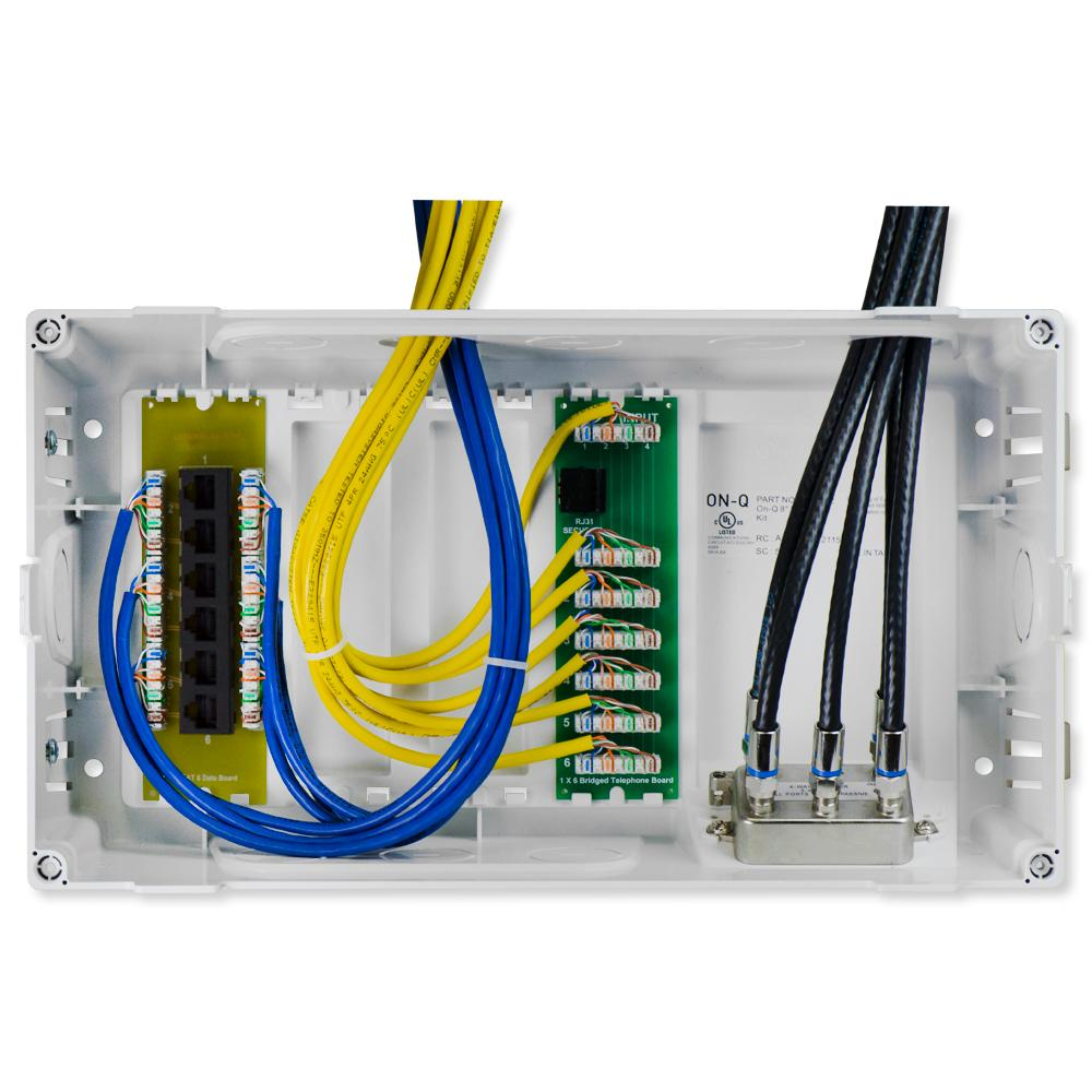 Image Of Home Command Center Structured Wiring Panel With ... on