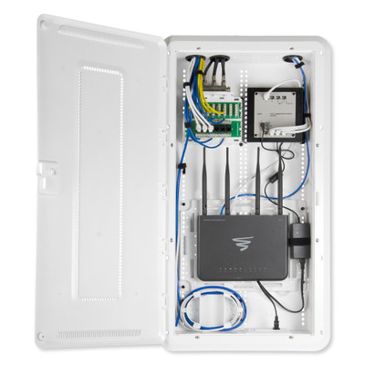 On-Q/Legrand Plastic Enclosure With Hinged Door and Trim