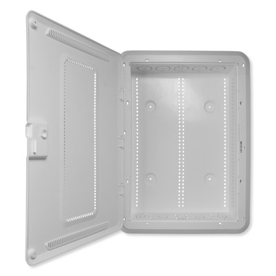 On-Q/Legrand Plastic Enclosure With Hinged Door and Trim, 20 In.