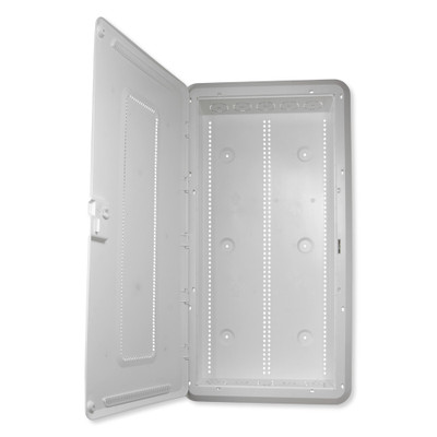 On-Q/Legrand Plastic Enclosure With Hinged Door and Trim, 30 In.