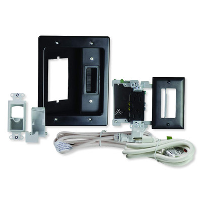 On-Q/Legrand Flat Screen TV Pro Power and Cable Management Kit, Black