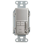On-Q/Legrand Intuity Broadcast Intercom Room Unit, Nickel (Open Box)