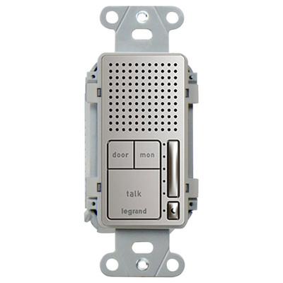 On-Q/Legrand Intuity Broadcast Intercom Room Unit, Nickel (Open Box)