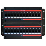 On-Q/Legrand 24-Port Cat5e Wall Mount Patch Panel