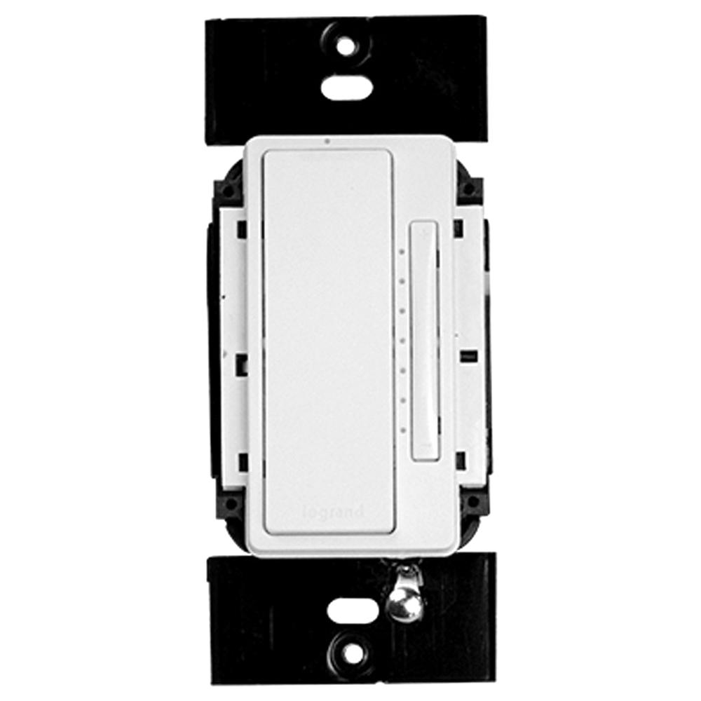 on q legrand radiant 3 way rf dimmer wall switch. Black Bedroom Furniture Sets. Home Design Ideas