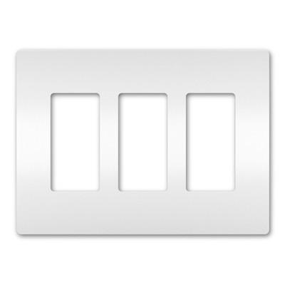 On-Q/Legrand Radiant Screwless Wallplate, 3-Gang, White